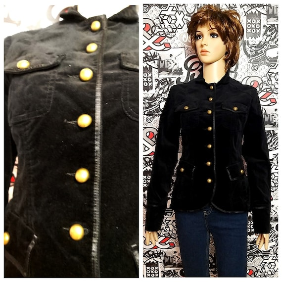 military Clothing Vintage military blazer Black ve