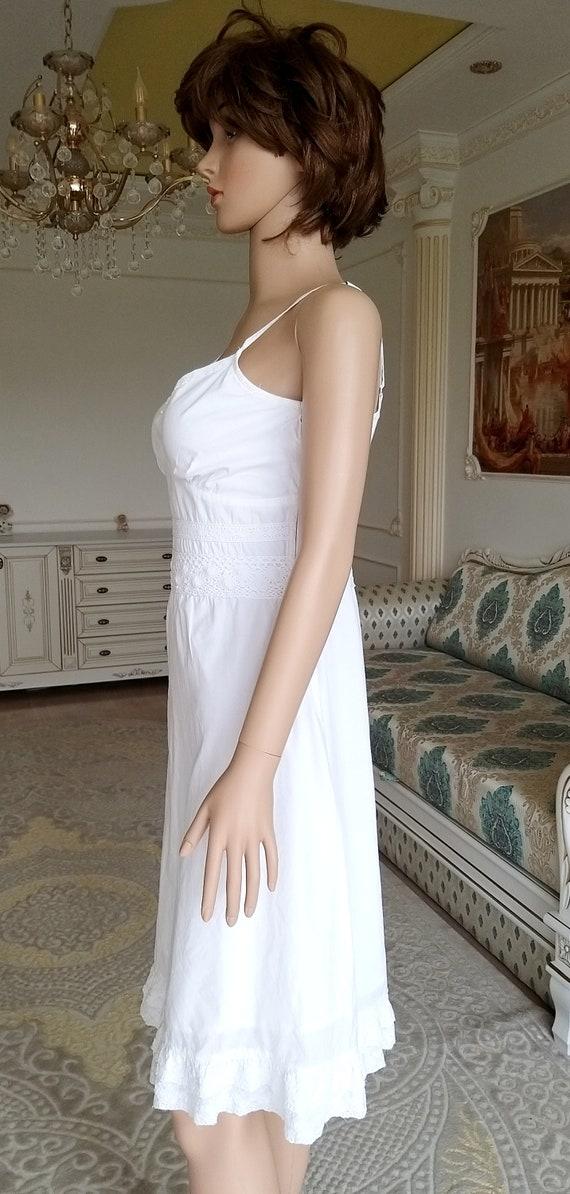 minimalist wedding dress white sundress white dre… - image 5