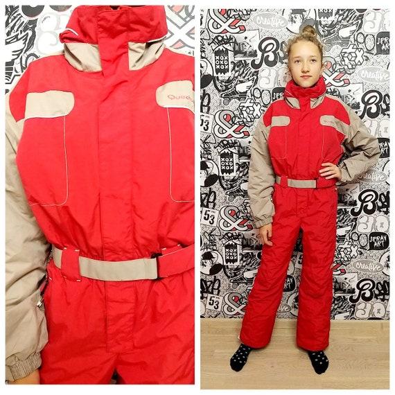 80s ski suit RED ski suit Kids Ski suit mountain c