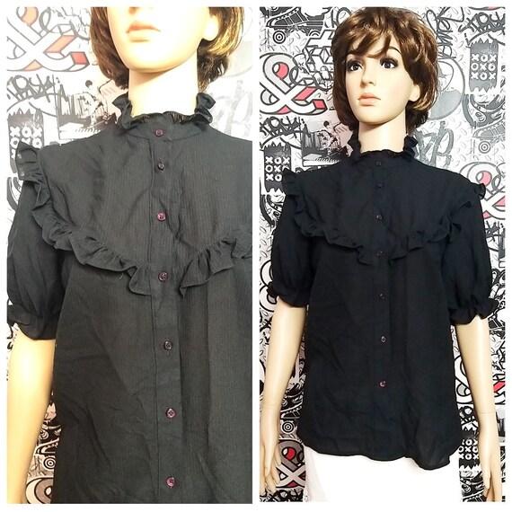 black Victorian Clothing Victorian Blouse Vintage