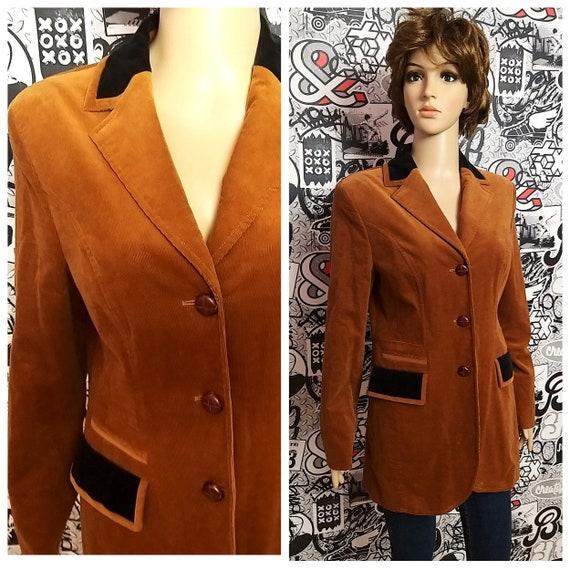 Women's blazer Women's Clothing Brown Corduroy Jac