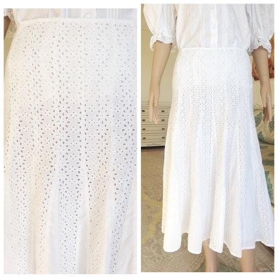 peasant skirt L Edwardian skirt Antique Victorian
