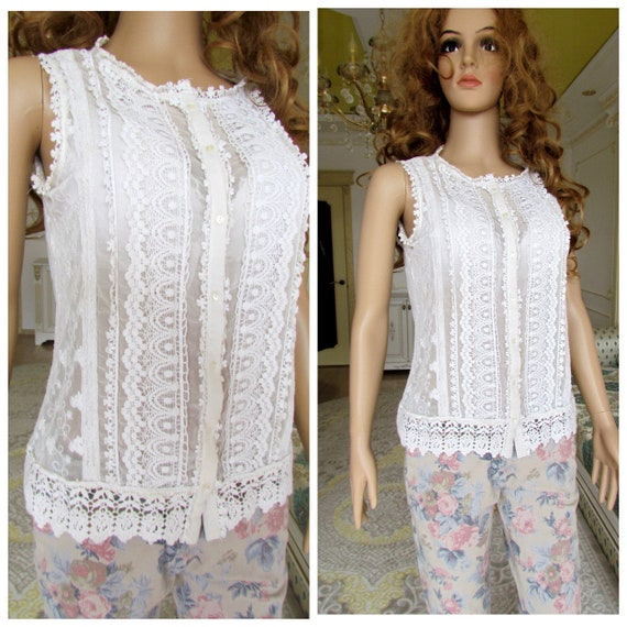 lace blouse white blouse Victorian Clothing Victor