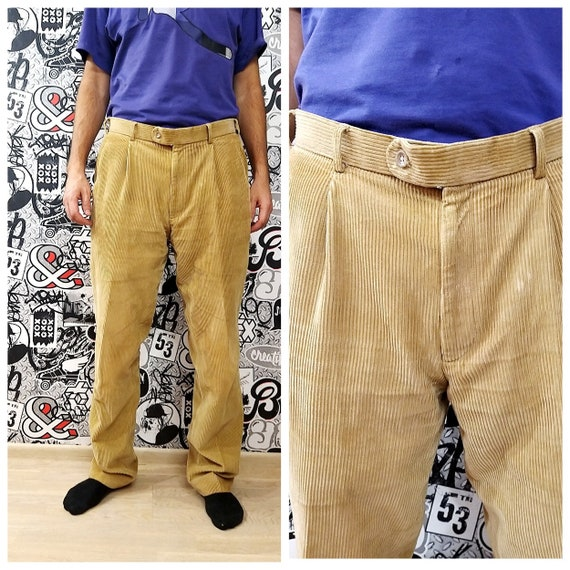 Mens Pants Mens Corduroy pants XXL Pleated Corduro