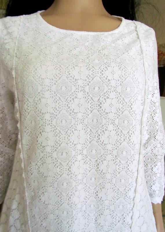 womens WHITE Blouse  womens blouse Victorian Clot… - image 3