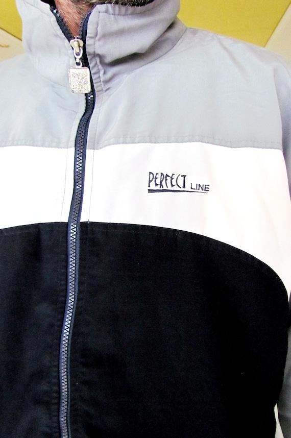 Mens sport suit vintage gray track suit Mens trac… - image 4