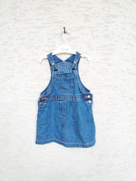 12-18 months denim girls dress embroidered dress … - image 5