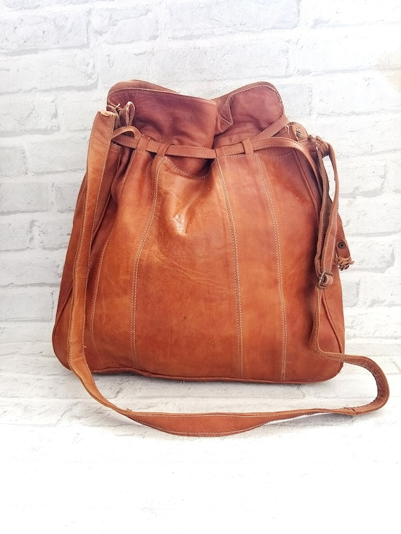 Bucket Bag genuine leather tote bag tote leather b