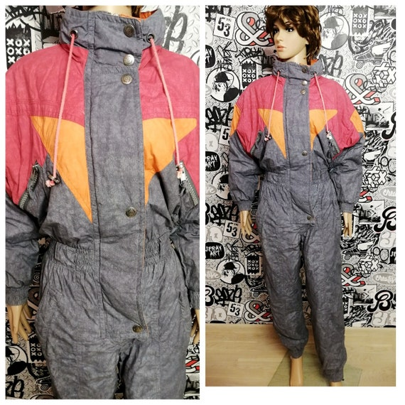 Gray ski suit Womens ski suit M Overall  Clothing