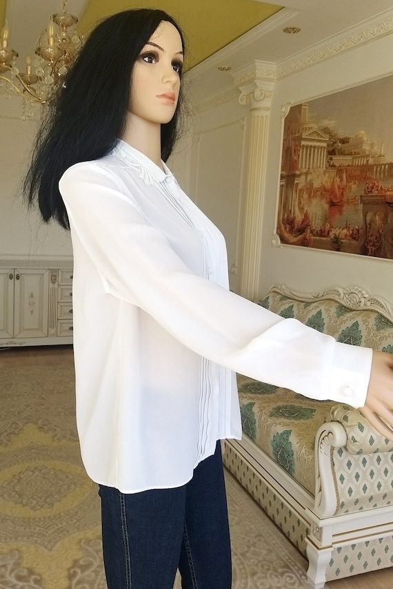 pleated white blouse Victorian Clothing Victorian… - image 6