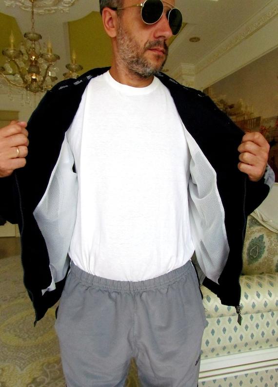 Mens sport suit vintage gray track suit Mens trac… - image 2