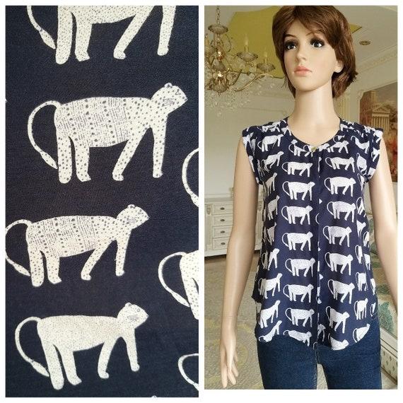 cat shirt cat top cat print top S animal print top