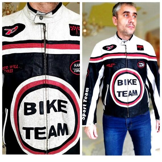 Mens Leather Jacket Moto Jacket Biker Jacket Leath