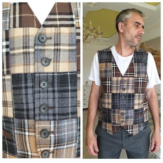 mens Vest Wool Vest Wool Top mens Tweed Vest Vinta