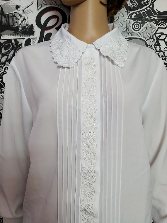 white lace Blouse Victorian Clothing Victorian Bl… - image 5