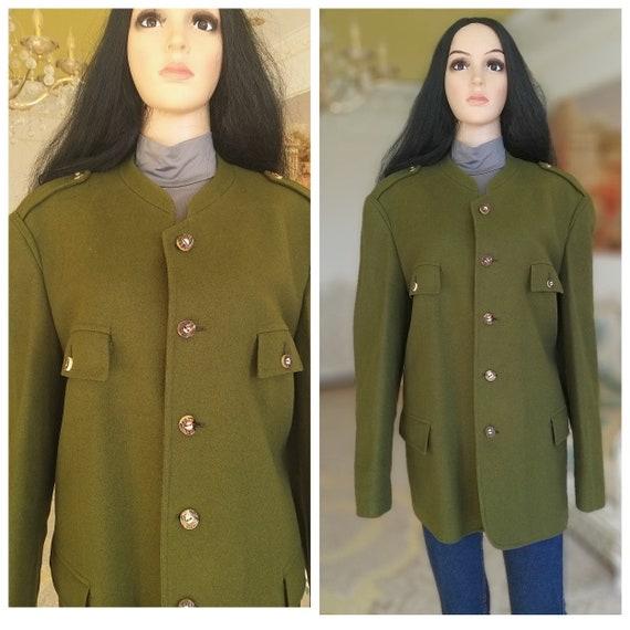 women coat Vintage wool coat winter coat Warm coat