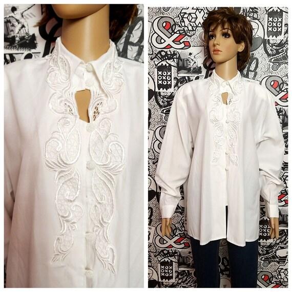 80s Victorian Blouse Vintage Victorian Clothing Vi