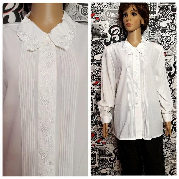 Victorian Blouse XL white lace Blouse Victorian Cl