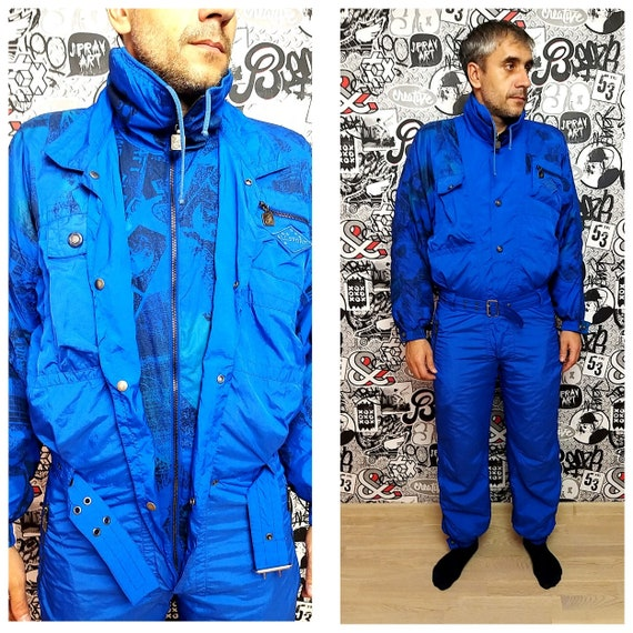 Unisex ski suit Adult Clothing Vintage men ski sui