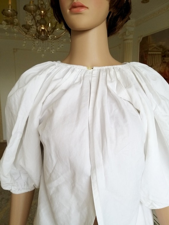20s Antique blouse Antique Shirt white blouse Vic… - image 3
