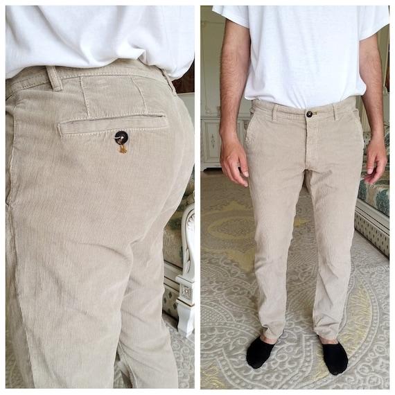 Mens Pants Mens Corduroy pants XL beige Corduroy p