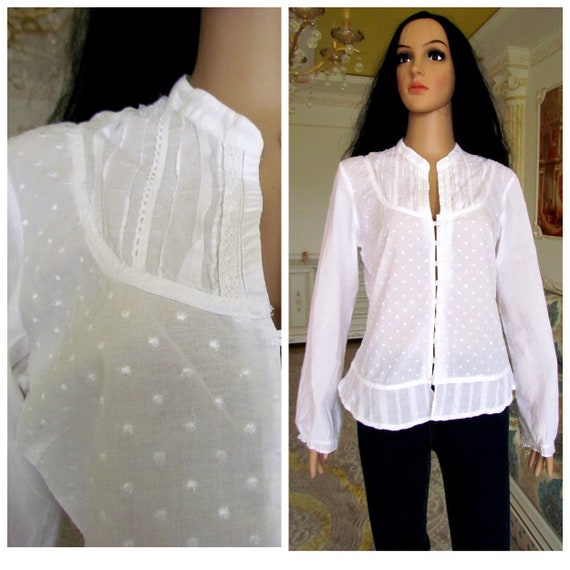70s womens blouse Edwardian Clothing Victorian Blo