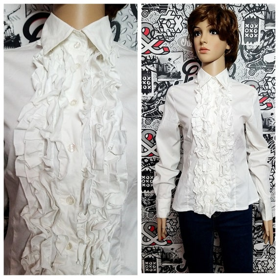Ruffle blouse Victorian Clothing Victorian Blouse