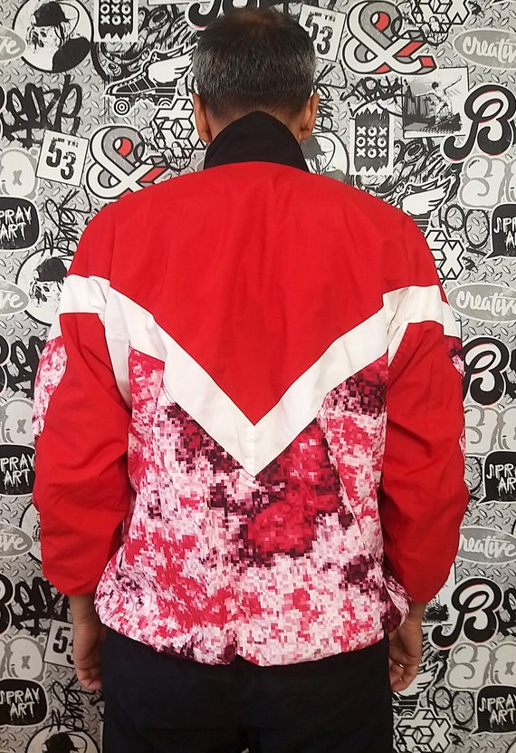 red black track suit M unisex track suit 90s colo… - image 6