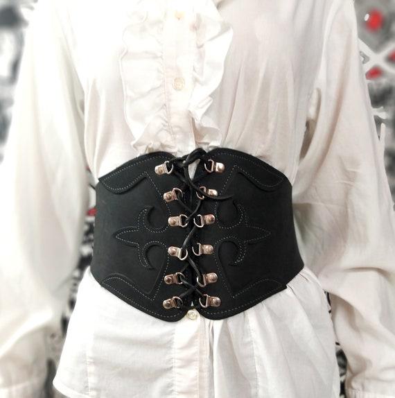 womens corset  black corset leather corset black l
