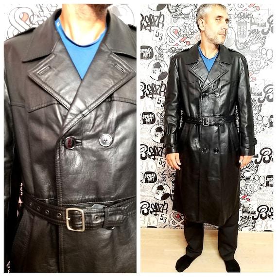 Black Leather Jacket mens Leather Clothing mens Le