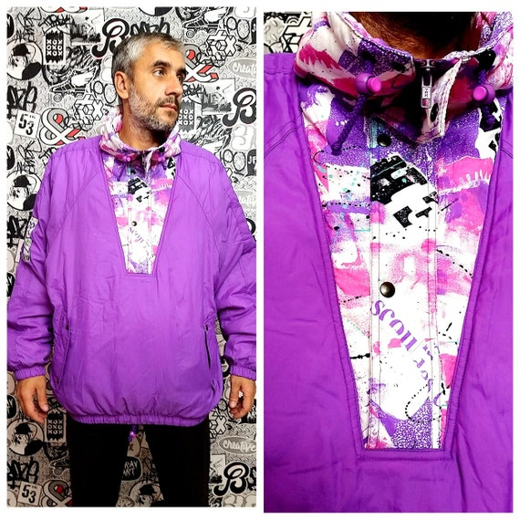 mens ski jacket Retro ski jacket anorak jacket pur