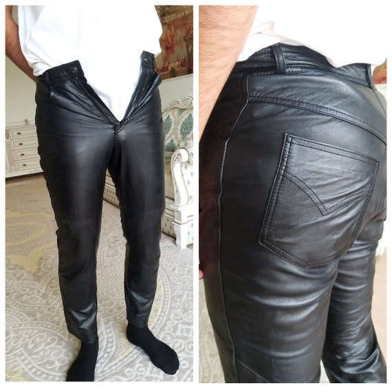 Mens Leather pants S Leather Clothing Western Retr
