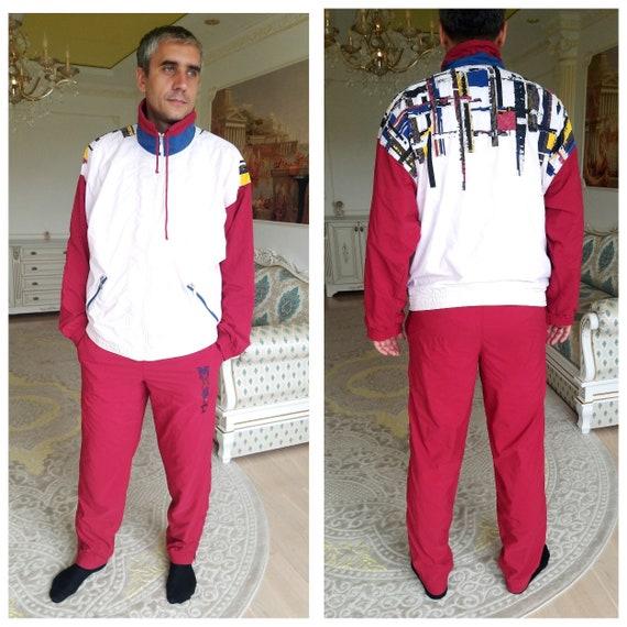 Unisex sport suit vintage burgundy track suit trac