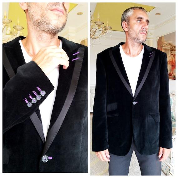 mens velvet jackets Mens jackets Vintage Mens blac