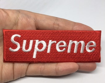 Supreme Logo Patch Cartoon Sew On Iron Embroidered For Jacket