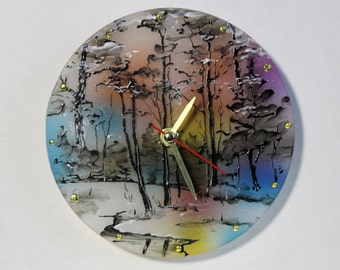 Stained Glass Clock Etsy