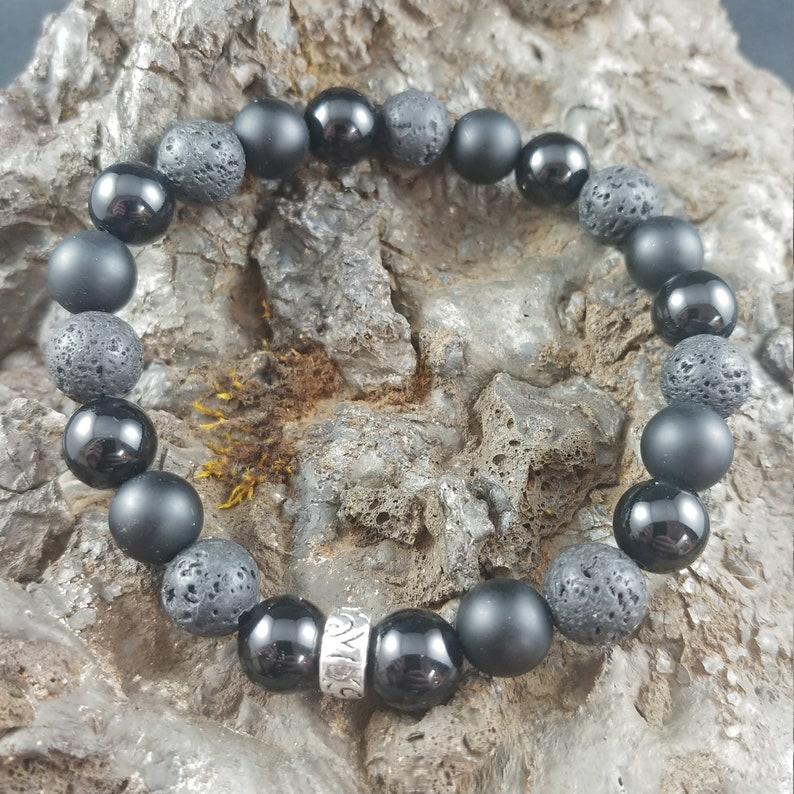 Lava and Onyx Bracelet image 0
