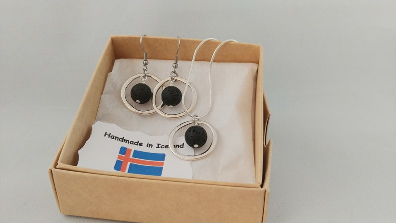 Circle Lava Set with Circle Earrings and Circle Necklace image 0