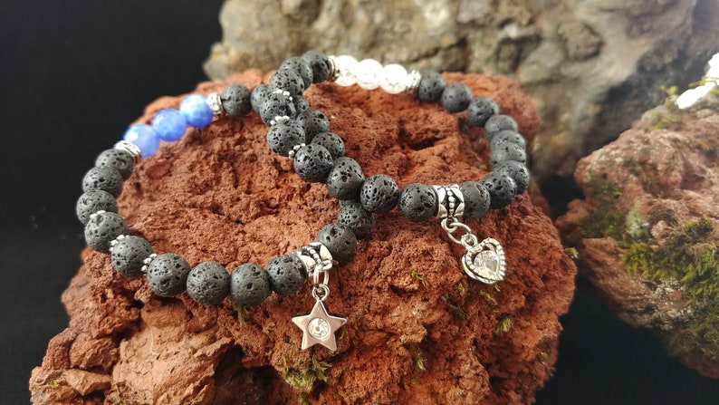 Lava Bracelet with Heart or Star Charm image 0
