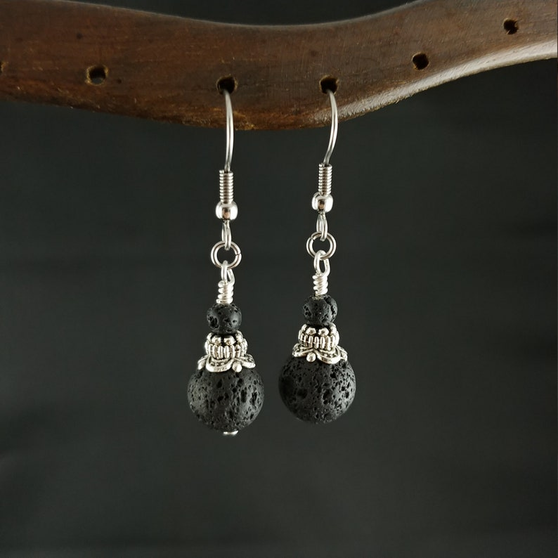 Elegant Icelandic Handmade Lava Rock Earring  Combination of image 0