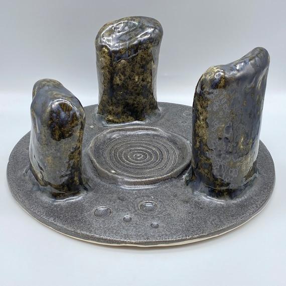 Ceramic Candle Holder, 'Solstice'