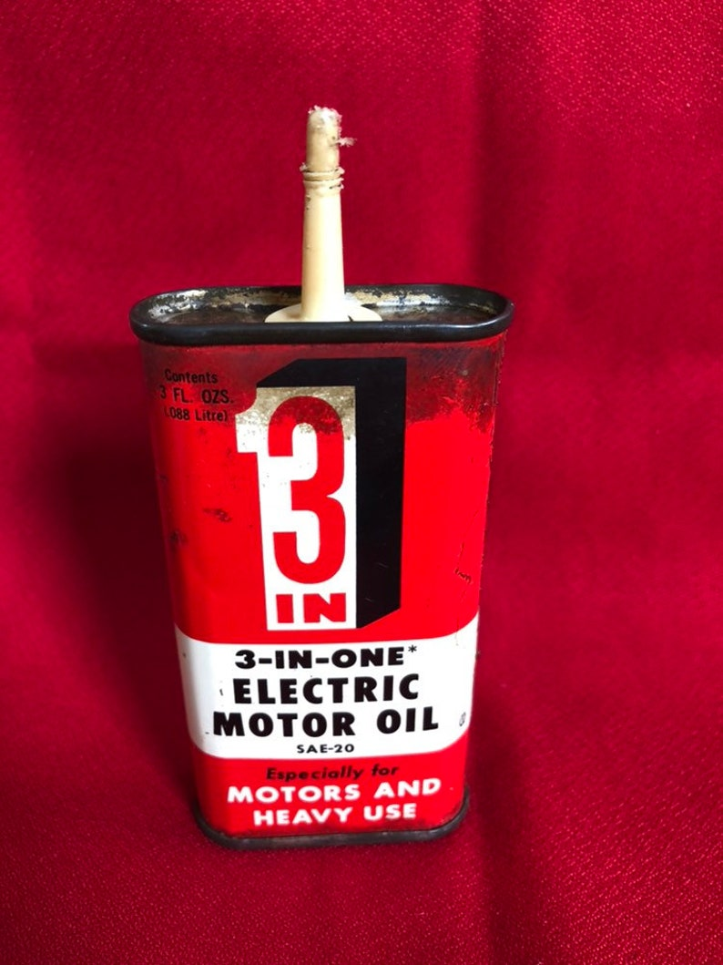3-In-One Vintage Electric Motor Oil Can