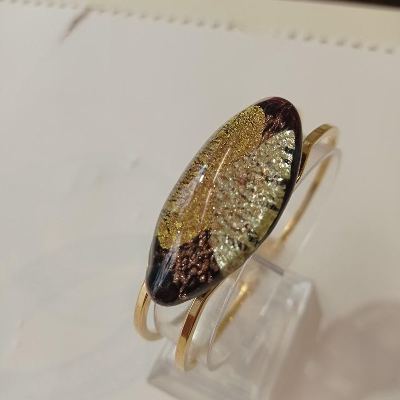 Murano glass bracelet with gold and silver Bracciale in Vetro di Murano con oro e argento