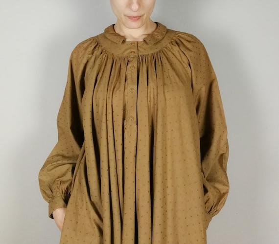 BYBLOS cotton voile nut brown Summer dress, Sprin… - image 4