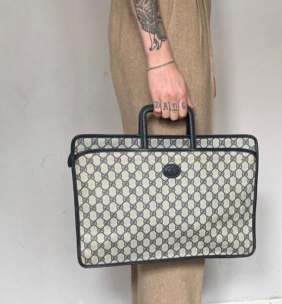 RARE 1980s Gucci Laptop Bag