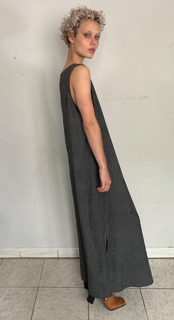 Check Print Tent Dress