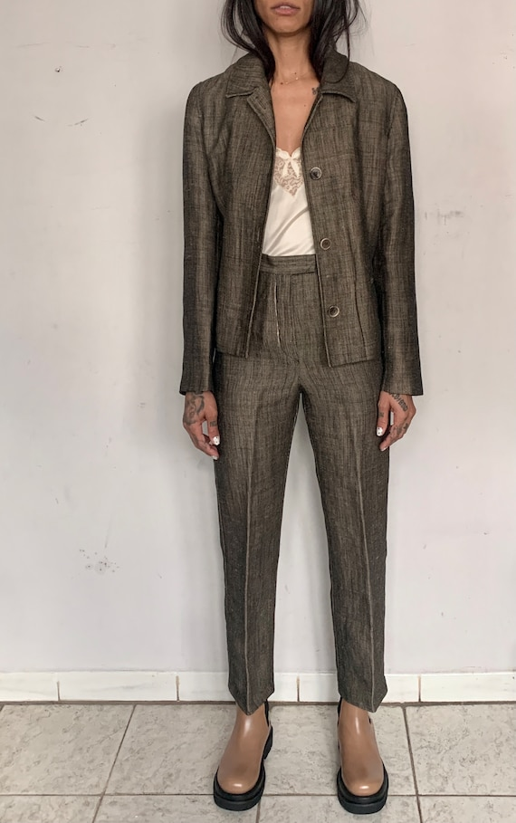 Spring Linen Suit, Earth