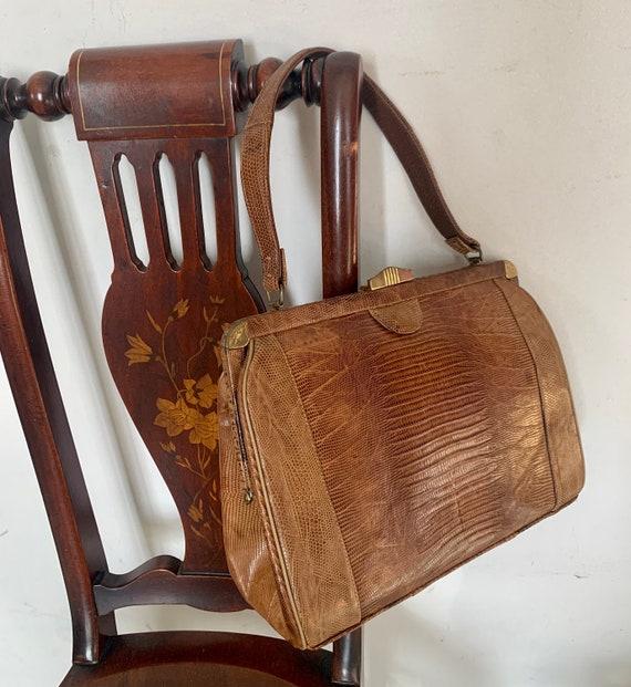 1930s Lizard Handbag, Ginger