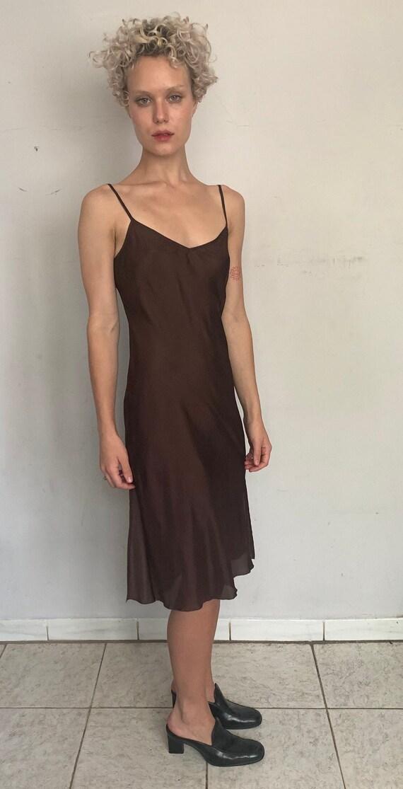 Dark Chocolate Silk Slip Dress
