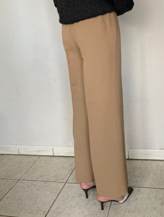 Beige Silk Trousers - image 4